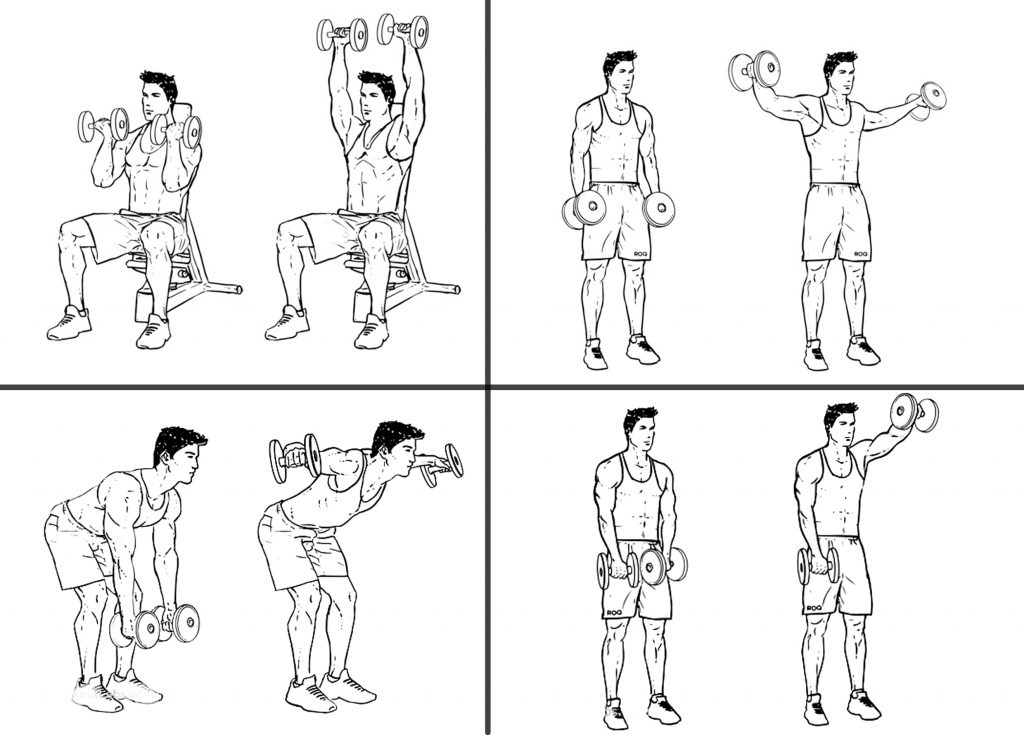 Antrenament acasă full body cu gantere